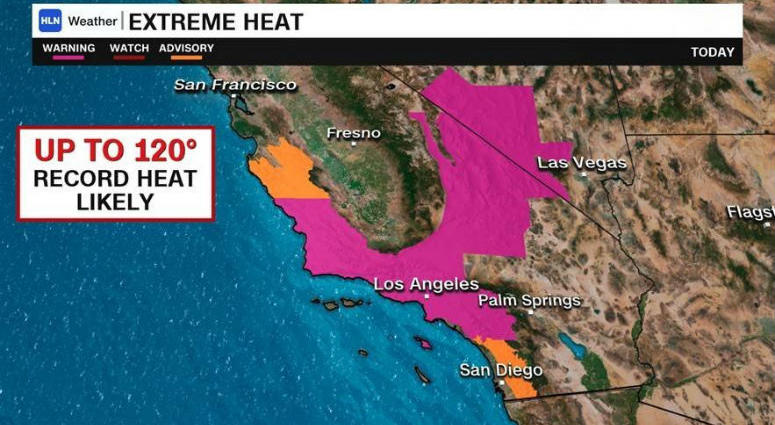 Officials in Los Angeles say thousands of the city's residents are without power after a heat wave caused high electricity demand.