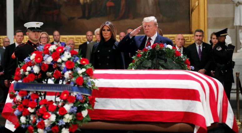 Former President George H.W. Bush's family intentionally planned a state funeral for him that will avoid criticism of President Donald Trump despite the long-running animosity between the two families, The Washington Post reported Monday night.