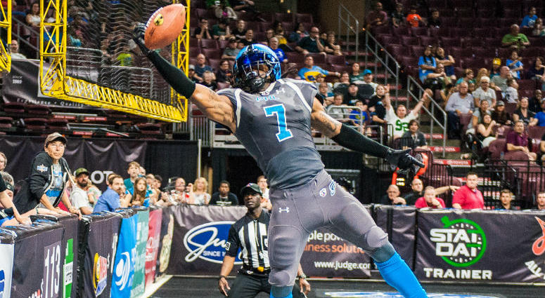 Darius Reynolds has 35 catches for 502 yards and nine touchdowns this season for the Philadelphia Soul.