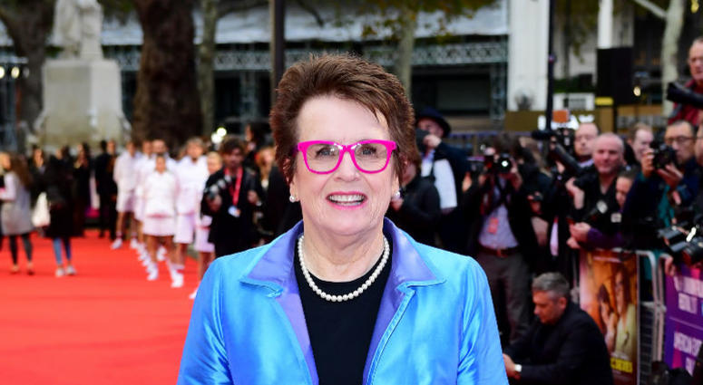 Billie Jean King attending the premiere of Battle of the Sexes held at Odeon Leicester Square, London. Picture date: Saturday October 7th, 2017.