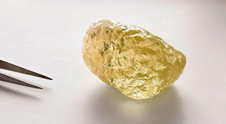 A 552-carat yellow diamond was recently unearthed in Canada -- the largest ever found in North America.
