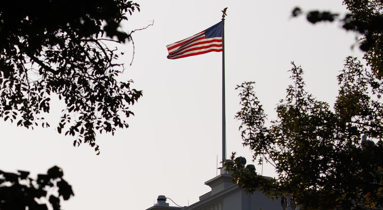 An American Flag Above The White House Flies At Full Staff Less Than 48 Hours