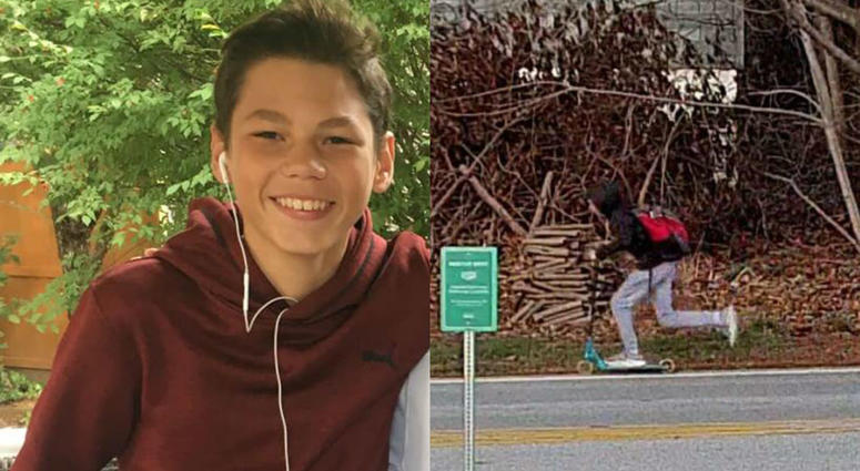 West Chester eighth grader Colin Vaughn went missing Thursday afternoon.