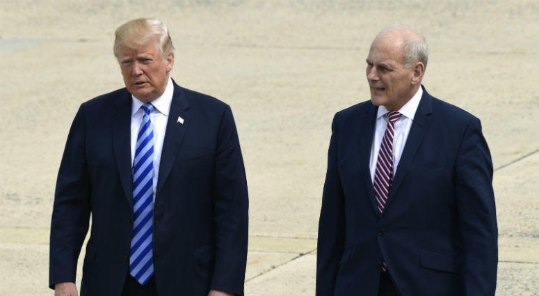 President Donald Trump and White House chief of staff John Kelly