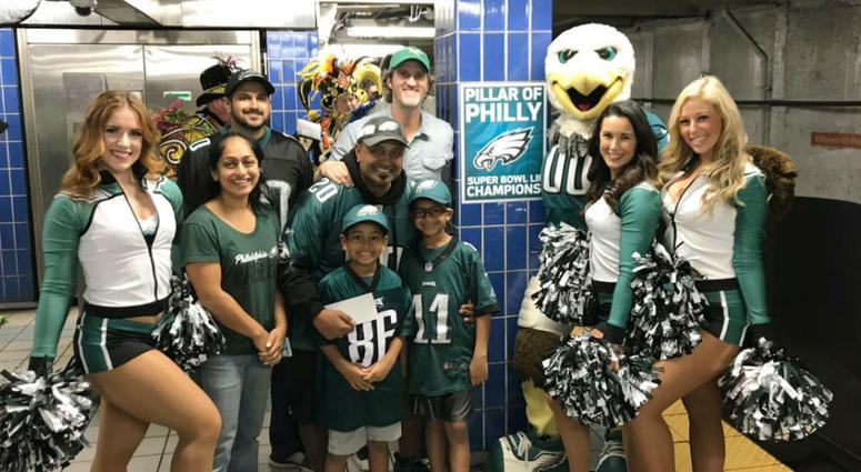 1eb76bc48f2 Eagles fan hit with fame after hitting pole gets some glory.