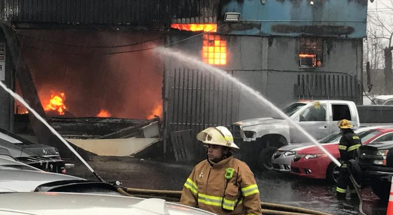 Philly Auto Group >> 3-alarm fire leaves parts of the boulevard shut down for hours in Northeast Philly | KYW