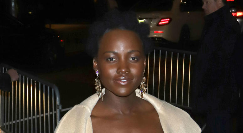 "Lupita Nyong'o attends a screening of ""Black Panther"" at the Museum of Modern Art in New York"