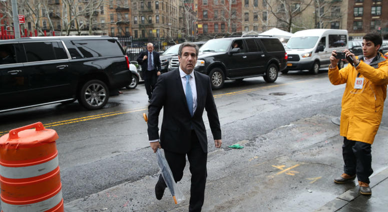 Michael Cohen, President Donald Trump's personal attorney, arrives at federal court, Monday, April 16, 2018, in New York.