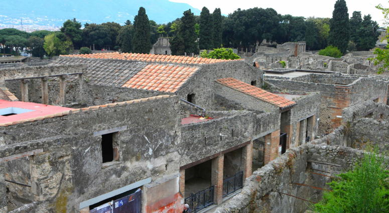 File photo taken on April 18, 2014 shows the scene of the Ancient Roman city of Pompeii in southern Italy.