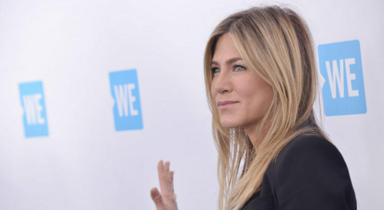 Jennifer Aniston arrives at WE Day California 2018 held at The Forum in Inglewood, CA on Thursday, April 19, 2018. (Photo By Sthanlee B. Mirador/Sipa USA)