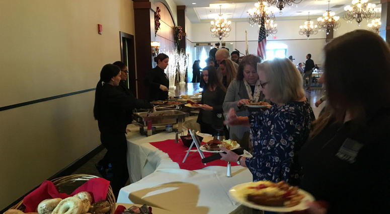 Philadelphia's law enforcement community brought together 40 families of officers killed in the line of duty for their annual holiday survivors' breakfast on Wednesday.