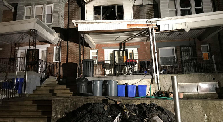 A closer look at the damage left behind from the overnight fire here on Ardell Street in SW Philly that left a young boy and four others hurt.