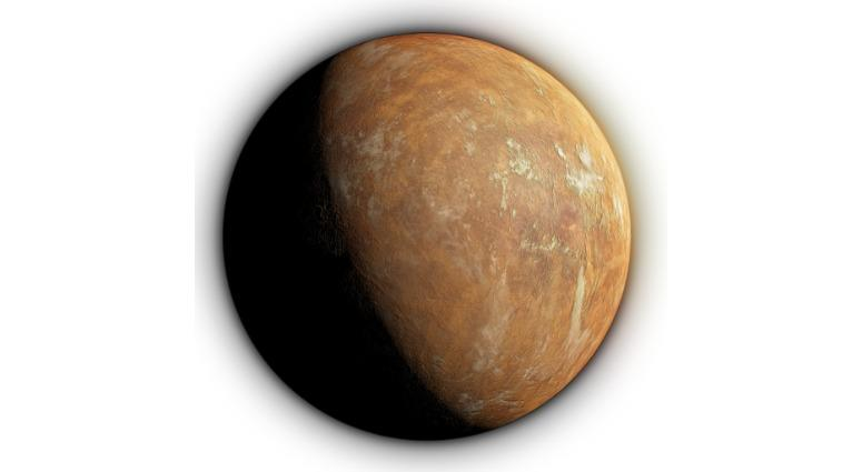 """A view of """"Super Earth,"""" which orbits Barnard's Star, nearly seven light-years from Earth."""