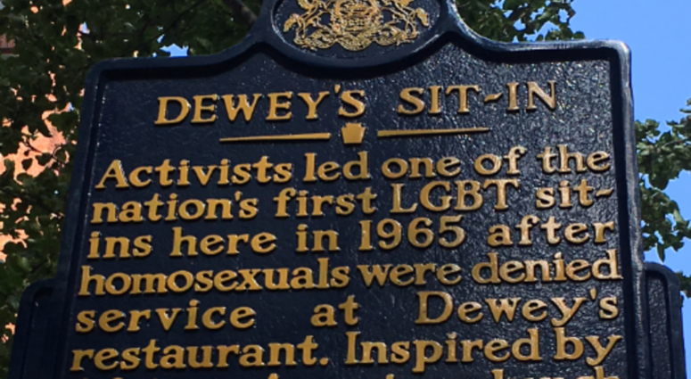 Image result for dewey's lunch counter sit in historical marker