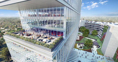 A planned, high-end office building in Plymouth Meeting is seeking an anchor tenant.
