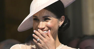 Meghan, the Duchess of Sussex, during a party in the gardens of Buckingham Palace in honor of Prince Charles for his years of charitable work, on Tuesday, May 22, 2018 in London