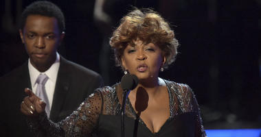 Anita Baker accepts the lifetime achievement award at the BET Awards at the Microsoft Theater on Sunday, June 24, 2018, in Los Angeles.