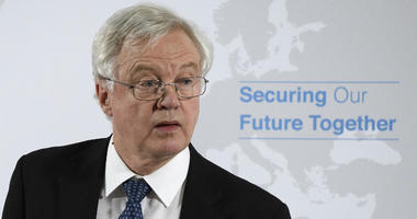 Britain's Secretary of State for Exiting the European Union David Davis delivers a speech in London, on Britain's vision for the future security relationship with the EU.