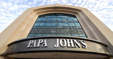This July 17, 2018, file photo, shows the corporate headquarters of Papa John's pizza located on their campus, in Louisville, Ky.