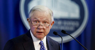 Attorney General Jeff Sessions speaks during the Office of Justice Programs' National Institute of Justice Opioid Research Summit in Washington, Tuesday, Sept. 25.