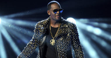 R. Kelly performs at the BET Awards in Los Angeles.