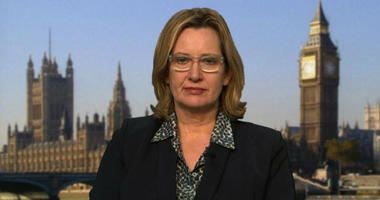 UK Prime Minister Theresa May has accepted the resignation of Amber Rudd as home secretary, a Downing Street spokesperson said, according to the UK Press Association. Rudd is seen here speaking to CNN in 2017. (File Photo)