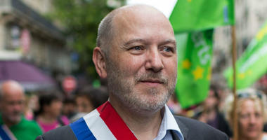 Denis Baupin, a prominent Green Party member and former Paris city official, takes part in a climate change demonstration in Paris, France.