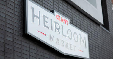 Giant Heirloom Market sign