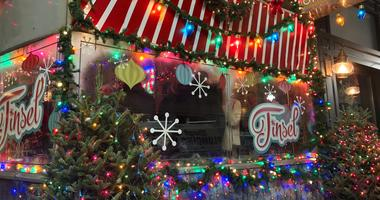 Christmas-themed pop-up bar Tinsel in Midtown Village