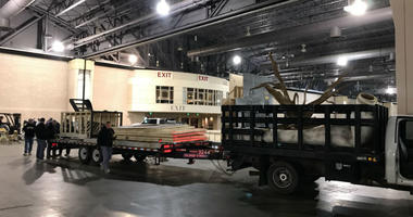 The Mummers are preparing for it's New Year's Day parade along Broad Street. Two indoor shows called the Fancy Brigade Finale will also take place on Jan. 1, and Wednesday is move-in day at the Pennsylvania Convention Center.