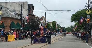 Hundreds lined up to watch the annual parade honoring soldiers who have paid the ultimate sacrifice.