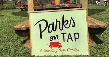 Parks on Tap, a traveling beer garden, opened April 26.
