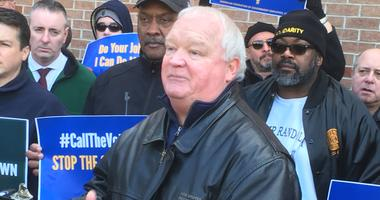 Hours before President Donald Trump announced the reopening of the government,  TSA union leader Joe Shuker spoke at a rally at Philadelphia International Airport on the impact the shutdown has had on workers.