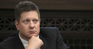 Chicago police Officer Jason Van Dyke, charged with first-degree murder in the shooting of black teenager Laquan McDonald in 2014