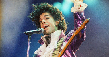 Prince performs at the Forum in Inglewood, California