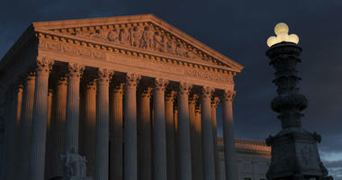 In this Jan. 24, 2019, file photo, the Supreme Court is seen at sunset in Washington.