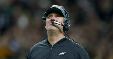 Nov 18, 2018; New Orleans, LA, USA; Philadelphia Eagles head coach Doug Pederson on the sidelines in the first quarter against the New Orleans Saints at the Mercedes-Benz Superdome.