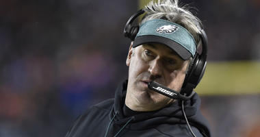 Jan 6, 2019; Chicago, IL, USA; Philadelphia Eagles head coach Doug Pederson in the first half a NFC Wild Card playoff football game against the Chicago Bears at Soldier Field.