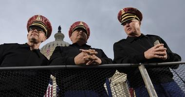 Jan 20, 2017; Washington, DC, USA; Members of the US Army Herald Trumpets before the Inauguration of Donald J. Trump at the Capitol.