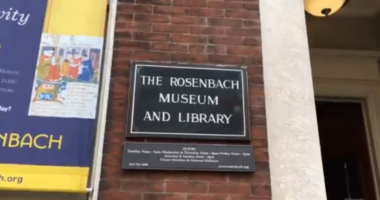 "The Rosenbach Museum on Delaney Street is hosted a special showing of their ""love letters"" collection Thursday evening in honor of Valentine's Day."