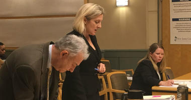 Assistant Prosecutor Elizabeth Vogelsong is shown standing, with defense attorney Kim Schultz seated in the background.