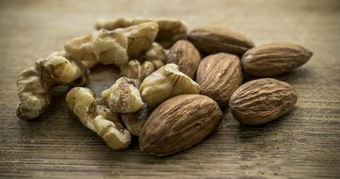 Walnuts and almonds