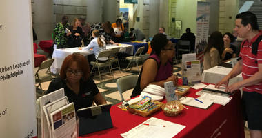 The library launched its Citizens Bank workplace programming with a career resource fair.