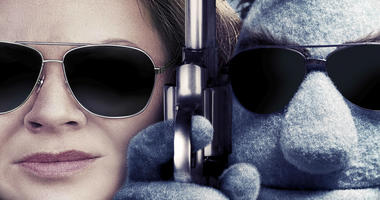 "Detail from poster art for ""The Happytime Murders,"" a film starring Melissa McCarthy."