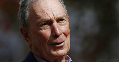In this Nov. 29, 2018 file photo, former mayor of New York City, Michael Bloomberg, speaks to the media in Jackson, Miss.