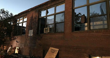 A fire tore through Our Lady of Angels Regional Catholic School in Morton, Delaware County.