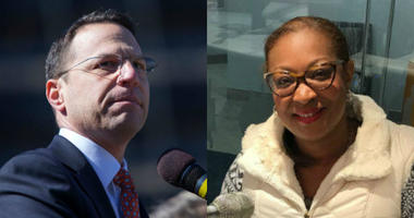 From left: Pennsylvania Attorney General Josh Shapiro, former City Representative Desiree Peterkin-Bell