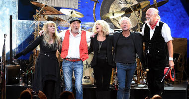 NEW YORK - JANUARY 26: (L-R) Stevie Nick, John McVie, Christine McVie, Lindsey Buckingham, and Mick Fleetwood of Fleetwood Mac appear at the 2018 MusiCares Person of the Year honoring Fleetwood Mac at Radio City Music Hall on January 26, 2018 in New York