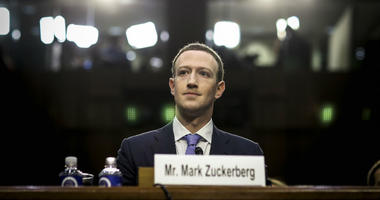 Facebook CEO Mark Zuckerberg testifies before a joint hearing of the Commerce and Judiciary Committees on Capitol Hill in Washington, DC, on April 10, 2018, about the use of Facebook data to target American voters in the 2016 election.