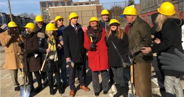 Funders and officials of Project HOME gathered in Kensington Tuesday for what was supposed to be the start of construction on the long-planned and desperately needed housing for people recovering from addiction.